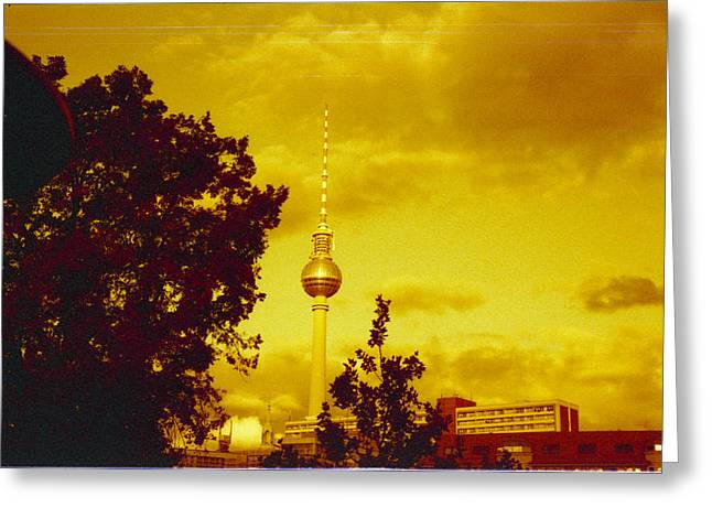 Deutschland Photographs Greeting Cards - Alexander tower Greeting Card by Juan  Bosco