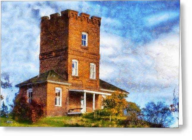 Townsends Inlet Greeting Cards - Alexanders Castle Fort Worden Greeting Card by Kaylee Mason
