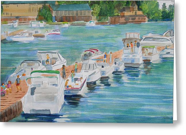 White River Scene Greeting Cards - Alexandria Bay Ny Saturday Afternoon Greeting Card by Robert P Hedden