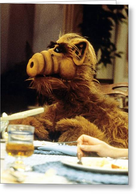 Sci-fi Photographs Greeting Cards - Alf  Greeting Card by Silver Screen