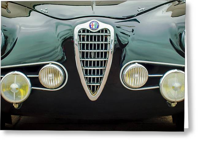 Milano Greeting Cards - Alfa Romeo Milano Grille -0016c Greeting Card by Jill Reger