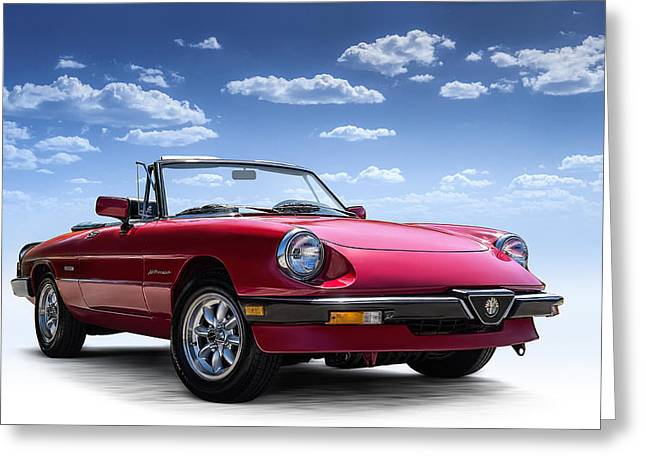 Auto Greeting Cards - Alfa Spider Greeting Card by Douglas Pittman