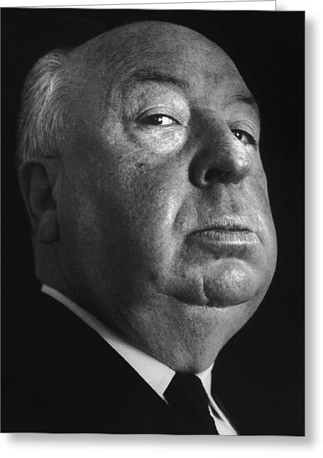 Frenzy Greeting Cards - Alfred Hitchcock Greeting Card by Studio Photo