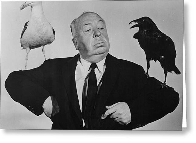 Promotional Greeting Cards - Alfred Hitchcock - The Birds Greeting Card by Nomad Art And  Design