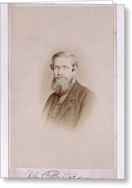 Human Survival Greeting Cards - Alfred Russel Wallace, British Greeting Card by Science Photo Library