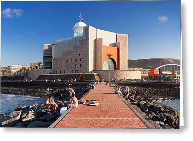 Ocean Art Photography Greeting Cards - Alfredo Kraus Auditorium Greeting Card by Panoramic Images