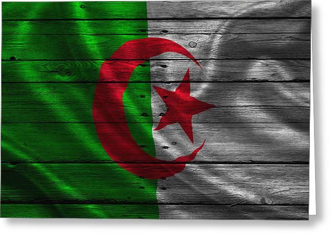 Continent Greeting Cards - Algeria Greeting Card by Joe Hamilton