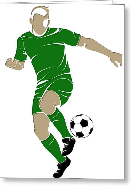 Soccer Goal Greeting Cards - Algeria Soccer Player4 Greeting Card by Joe Hamilton