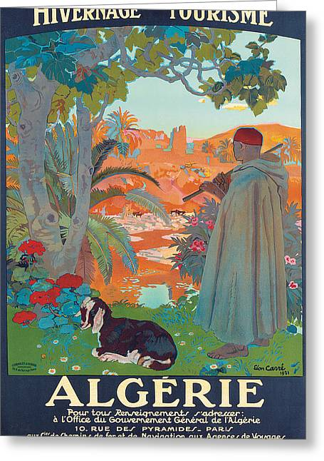 1920s Drawings Greeting Cards - Algerie Greeting Card by Leon Georges Carre