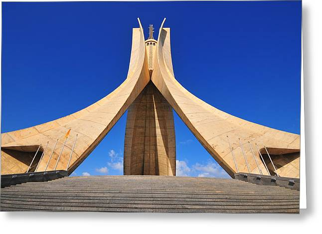 Vezina Greeting Cards - Algiers Martyrs monument Greeting Card by Miguel Torres