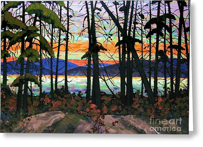 Michael Swanson Greeting Cards - Algoma Sunset 30 x 40 - SOLD Greeting Card by Michael Swanson
