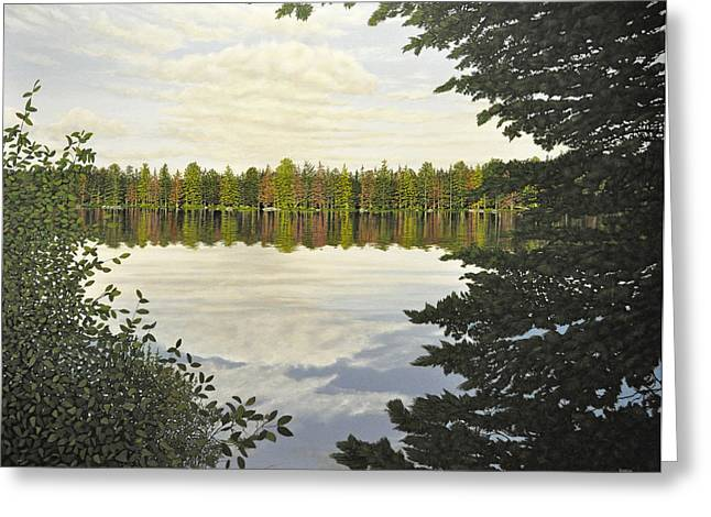 Canoe Paintings Greeting Cards - Algonquin Park Greeting Card by Kenneth M  Kirsch