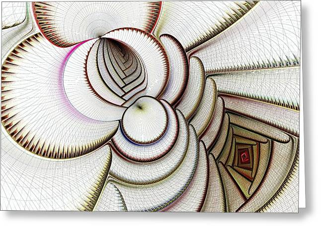 Hypnotizing Greeting Cards - Algorithmic Art Greeting Card by Anastasiya Malakhova