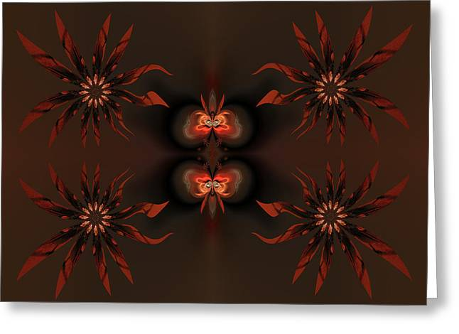 Generative Abstract Greeting Cards - Algorithmic flowers Greeting Card by Claude McCoy