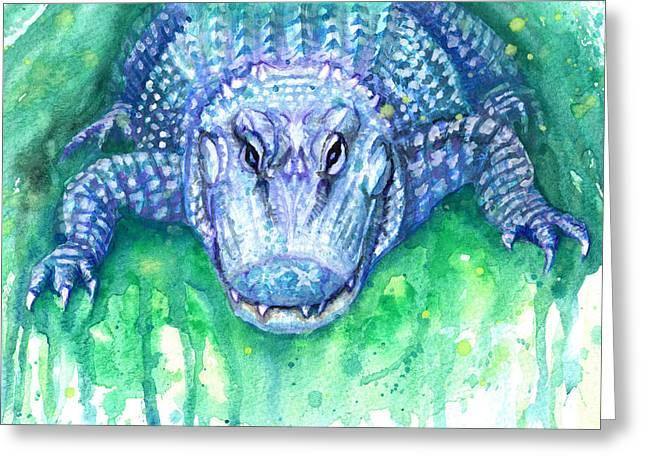 Florida Gators Paintings Greeting Cards - Ali Greeting Card by Ashley Kujan