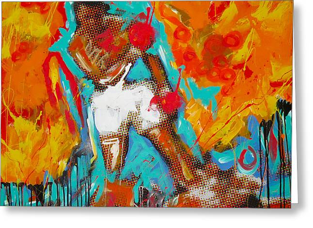 Ali Paintings Greeting Cards - Ali Greeting Card by Elliott From