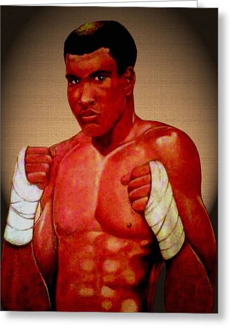 African-american Drawings Greeting Cards - Ali Greeting Card by Victor Carrington