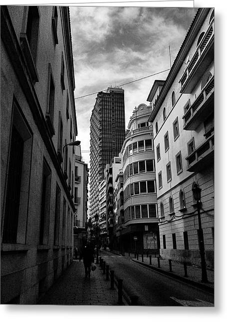 Streetphotography Greeting Cards - Alicante  Greeting Card by Pedro Fernandez