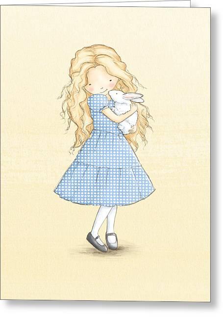 Alice Greeting Card by Amanda Francey