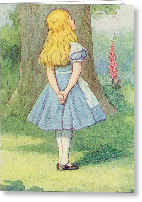 Alice In Wonderland Greeting Card by John Tenniel