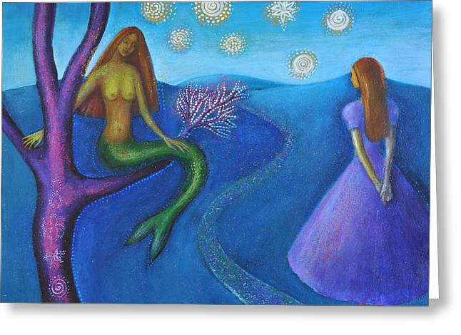 Empowerment Greeting Cards - Alice and the Mermaid  Greeting Card by Alice Mason