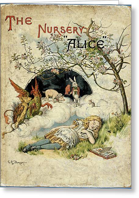 Alice Asleep Greeting Card by British Library