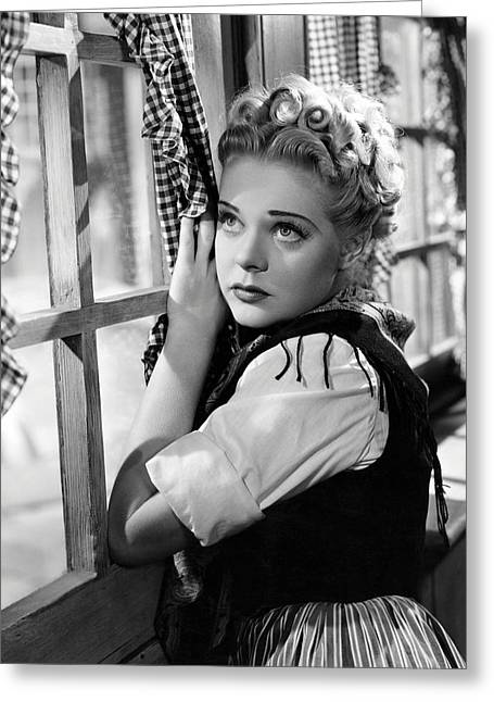 Little Greeting Cards - Alice Faye in Little Old New York  Greeting Card by Silver Screen