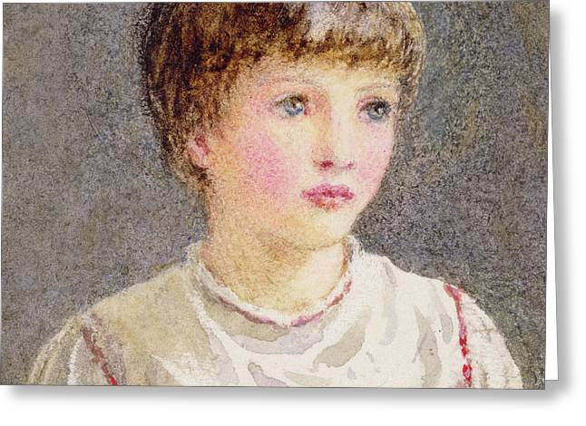 Lip Greeting Cards - Alice Greeting Card by Helen Allingham