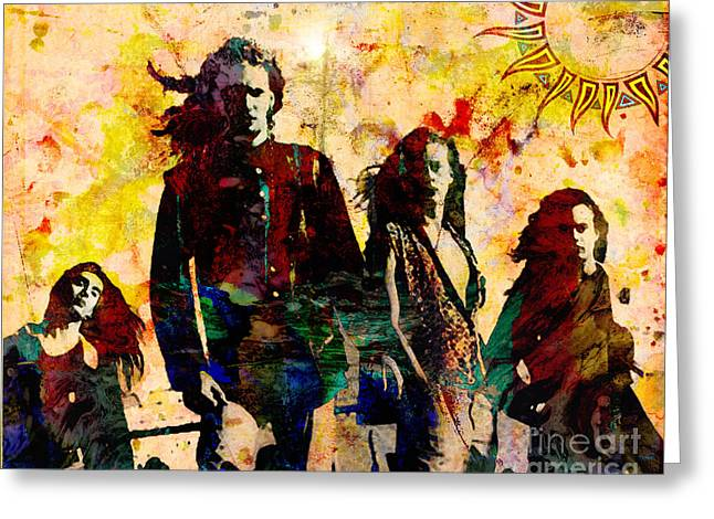 Staley Greeting Cards - Alice In Chains Original Painting Print Greeting Card by Ryan RockChromatic