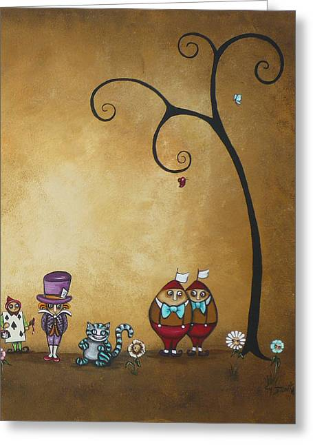 Mad Hatter Greeting Cards - Alice in Wonderland Art - Encore - II Greeting Card by Charlene Zatloukal