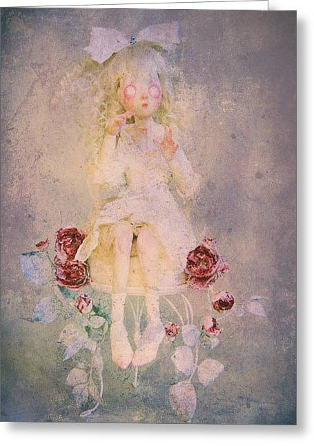 Mad Hatter Mixed Media Greeting Cards - Alice Is In The Garden Greeting Card by Leapdaybride