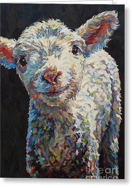 Ovine Greeting Cards - Alice Greeting Card by Patricia A Griffin