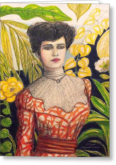 Liberation Drawings Greeting Cards - Alice Roosevelt Greeting Card by Larry Lamb