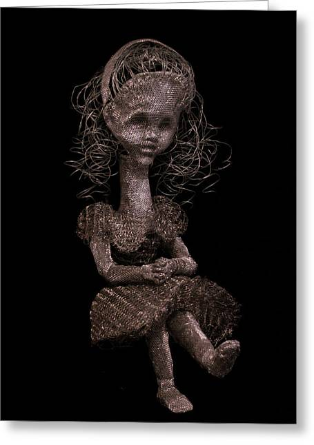 Seated Sculptures Greeting Cards - Alice Greeting Card by Sonya J