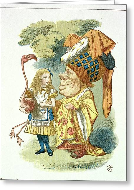 Alice With Her Croquet Greeting Card by British Library