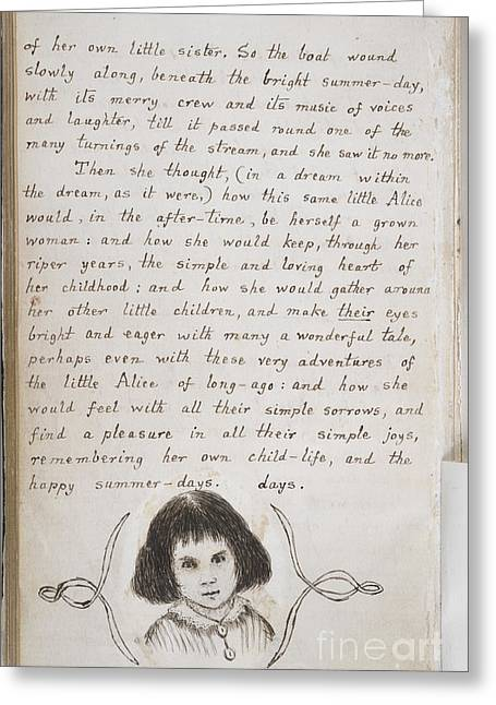 Under Ground Greeting Cards - Alices Adventures Under Ground Greeting Card by British Library
