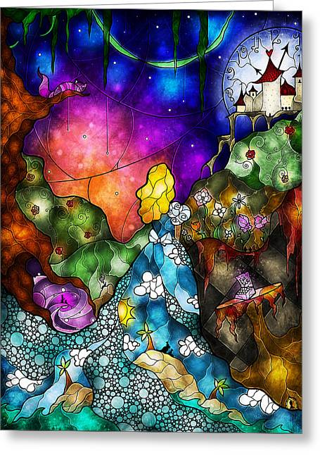 Alice's Wonderland Greeting Card by Mandie Manzano