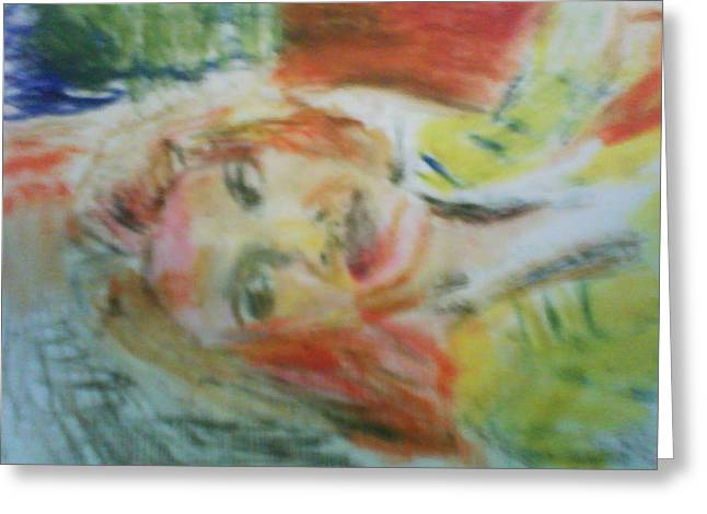 Celebrity Pastels Greeting Cards - Alicia S. Greeting Card by Sean King