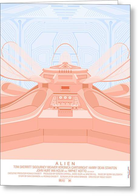 Alien Digital Greeting Cards - Alien 79 Greeting Card by Peter Cassidy