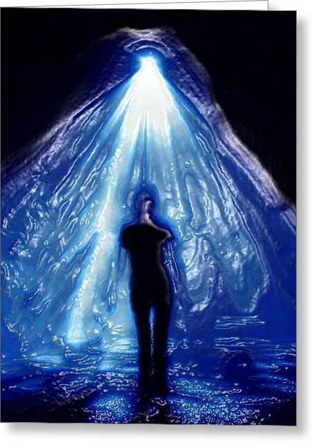 Abduction Digital Art Greeting Cards - Alien Abduction original work Greeting Card by David Lee Thompson