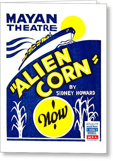 Alien Corn 1938 Greeting Card by Padre Art