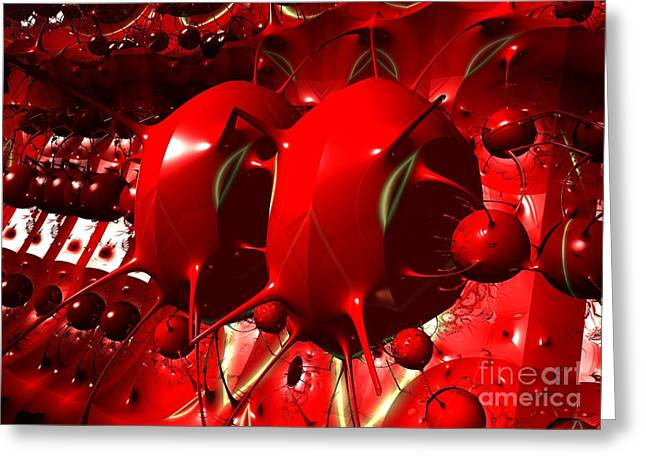 Algorithmic Abstract Greeting Cards - Alien Egg Pods Greeting Card by Melissa Messick