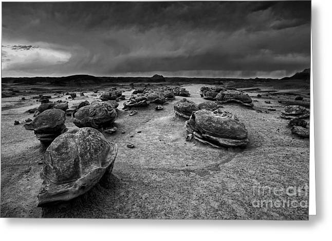Thunderstorm Greeting Cards - Alien Eggs at the Bisti Badlands Greeting Card by Keith Kapple