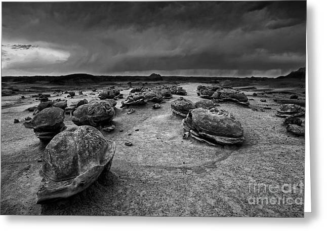 Alien Eggs At The Bisti Badlands Greeting Card by Keith Kapple