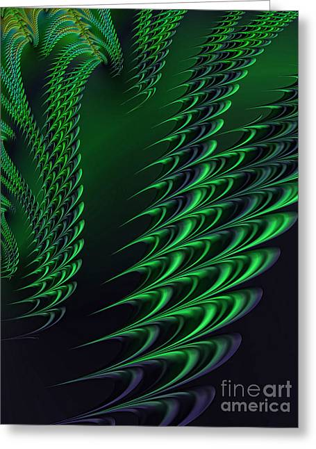 Web Digital Art Greeting Cards - Alien Encounter Greeting Card by John Edwards