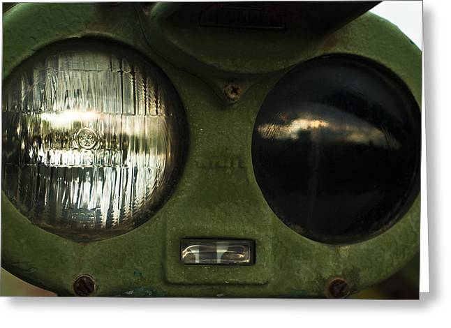 Army Tank Greeting Cards - Alien Eyes Greeting Card by Christi Kraft