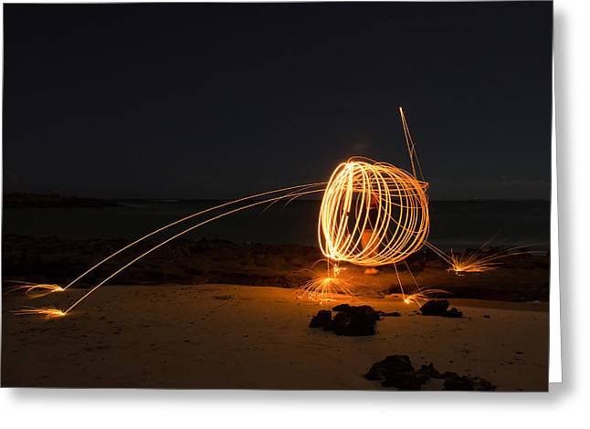 Top Seller Greeting Cards - Alien Firework Greeting Card by Tin Lung Chao