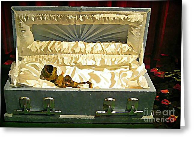 Halifax Photographs Greeting Cards - Alien Funeral Greeting Card by John Malone