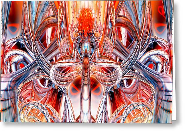 Tion Greeting Cards - Alien God Torch Fx Greeting Card by G Adam Orosco