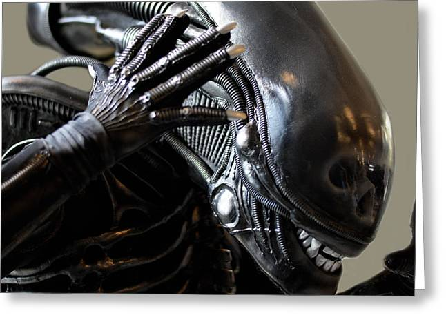 Xfiles Greeting Cards - Alien is disoriented  Greeting Card by Toppart Sweden